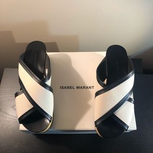 Isabel Marant Zerry Platform Slide Sandals